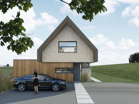 Eigentijds woonhuis in de polders rondom Zuidland