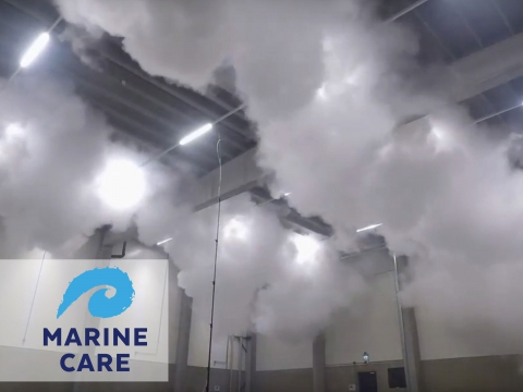 Proefblussing CO2 bij Marine Care