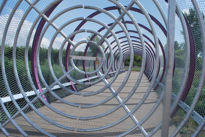 Voetgangersbrug te Spijkenisse