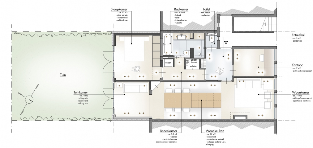 Verbouwing stadsappartement Den Haag