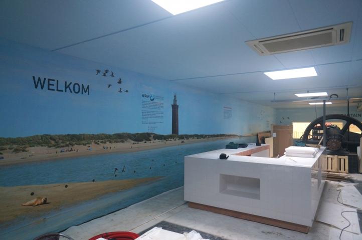 Tussentijdse vorderingen bij het Experiencecenter A-Seal