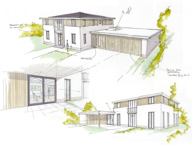 Nieuwe uitstraling voor een bestaand woonhuis