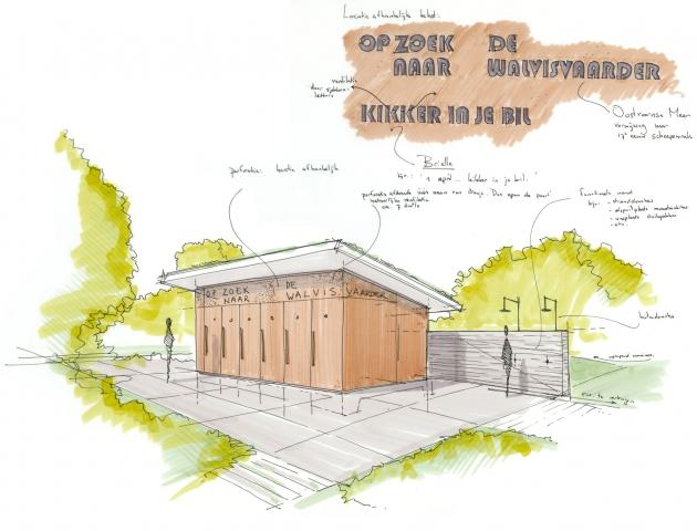 Nieuwe toiletgebouwen in de recreatiegebieden op Voorne-Putten.