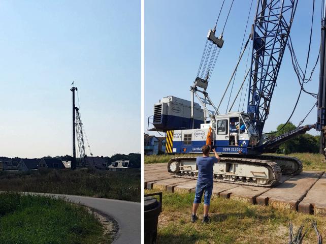 De bouw is gestart voor een EPC=0 woning in Rockanje