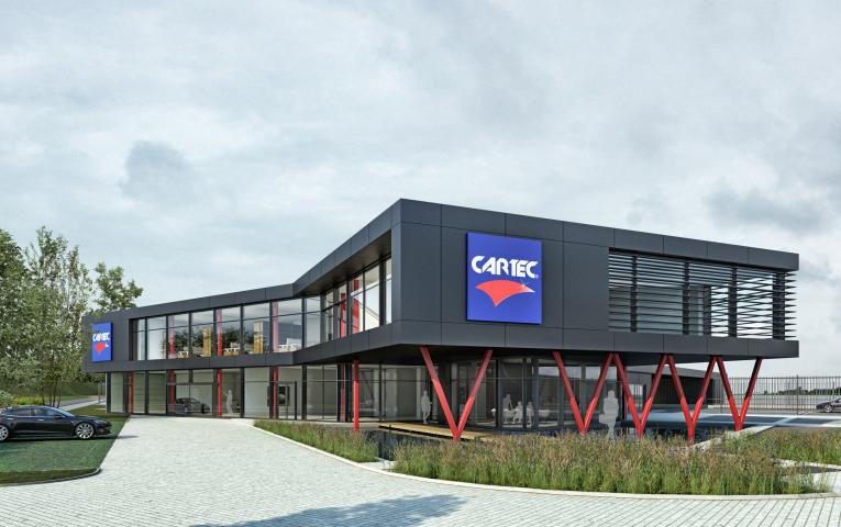 Nieuwbouw kantoor en bedrijfsgebouw Cartec